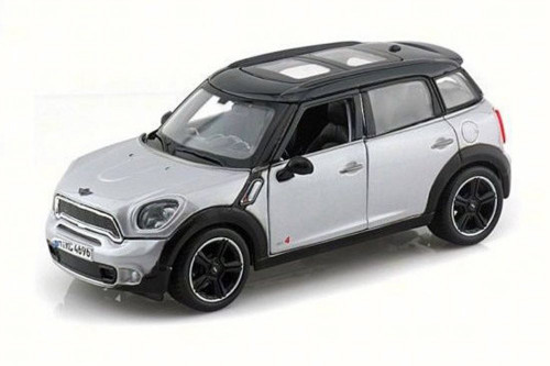 Mini Cooper Countryman with Sunroof, Silver - Maisto 31273SV - 1/24 Scale Diecast Model Toy Car