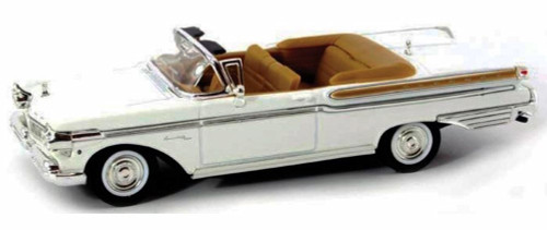 1957 Mercury Turnpike Cruiser Convertible, White - Yatming 94253 - 1/43 Scale Diecast Model Toy Car