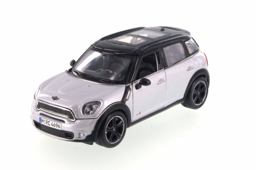Mini Cooper Countryman, Silver - Maisto 34273 - 1/24 Scale Diecast Model Toy Car