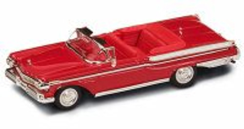 1957 Mercury Turnpike Cruiser Convertible, Red - Yatming 94253 - 1/43 Scale Diecast Model Toy Car