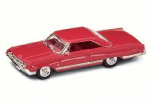 1964 Mercury Marauder, Red w/ White Stripes - Road Signature 94250 - 1/43 Scale Diecast Model Toy Car