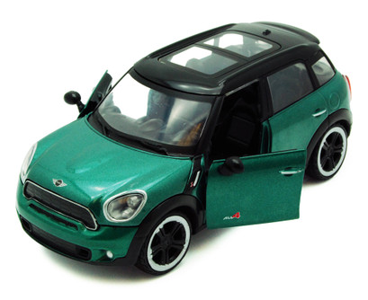 Mini Cooper S Countryman w/ Sunroof, Green - Motormax 73353 - 1/24 scale Diecast Model Toy Car
