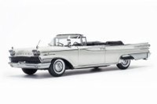 1959 Mercury Park Lane Open Convertible, Marble White - Sun Star 5154 - 1/18 Scale Diecast Model Toy Car