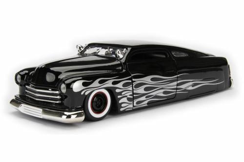 1951  Mercury Hard Top, Black w/ Flames - Jada 99062DP1 - 1/24 Scale Diecast Model Toy Car