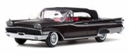 1959 Mercury Park Lane Closed Convertible, Black - Sun Star 5166 - 1/18 Scale Diecast Model Toy Car