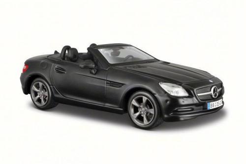 2011 Mercedes-Benz SLK Convertible, Matte Black - Maisto 31206MK - 1/24 Scale Diecast Model Toy Car