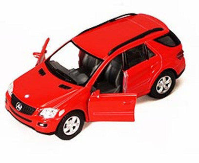 """Mercedes Benz ML-Class SUV, Red - Kinsmart 5309DD - 5"""" Diecast Model Toy Car (Brand New, but NOT IN BOX)"""