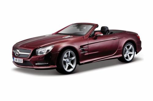 2012 Mercedes-Benz SL 500 Convertible, Burgundy - Maisto 31196R - 1/18 Scale Diecast Model Toy Car