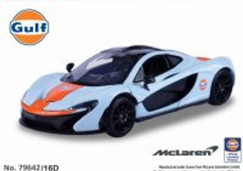 McLaren P1, Gulf Oil - Motormax 79642/16D - 1/24 scale Diecast Model Toy Car