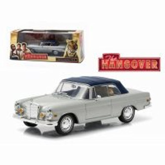 1969 Mercedes-Benz 280 SE Convertible (Damaged) with Tiger, The Hangover - Greenlight 86462 - 1/43 scale Diecast Model Toy Car