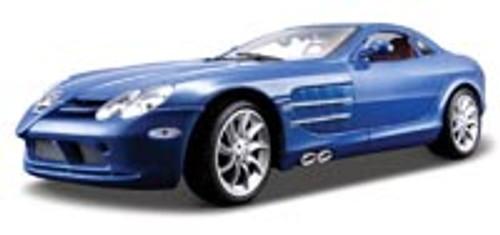 Mercedes Benz SLR McLaren, Blue - Maisto Premiere 36653 - 1/18 Scale Diecast Model Toy Car