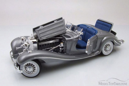 1936 Mercedes-Benz 500K Typ Special Roadster Convertible, Gray - Maisto 36862GY - 1/18 Scale Diecast Model Toy Car
