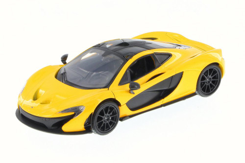 McLaren P1 Hard Top, Yellow - Motor Max 79325 - 1/24 Scale Diecast Model Toy Car