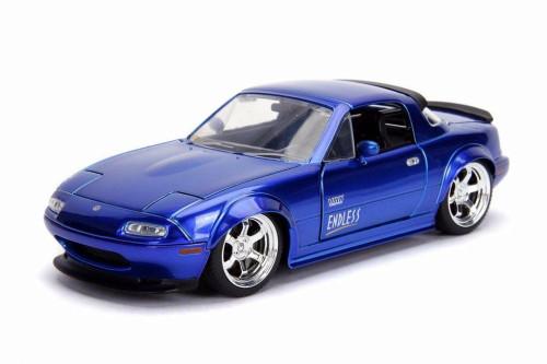 1990 Mazda Miata Hard Top, Candy Blue - Jada 30942 - 1/24 scale Diecast Model Toy Car