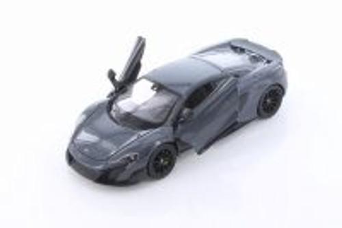McLaren 675LT Hardtop, Dark Gray - Welly 24089/4D - 1/24 scale Diecast Model Toy Car