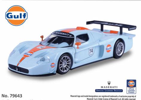 Maserati MC 12 Corsa, Gulf Oil - Motormax 79643 - 1/24 scale Diecast Model Toy Car