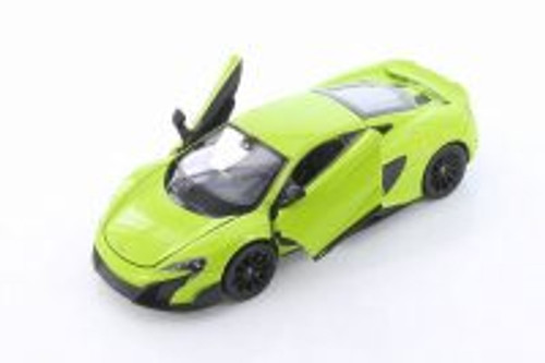 McLaren 675LT Hardtop, Bright Green - Welly 24089/4D - 1/24 scale Diecast Model Toy Car