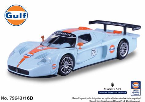 Maserati MC 12 Corsa, Gulf Oil - Motormax 79643/16D - 1/24 scale Diecast Model Toy Car