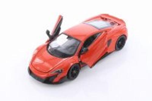 McLaren 675LT Hardtop, Orange - Welly 24089/4D - 1/24 scale Diecast Model Toy Car