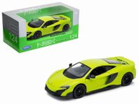 McLaren 675LT Coupe, Green - Welly 24089W-GRN - 1/24 Scale Diecast Model Toy Car