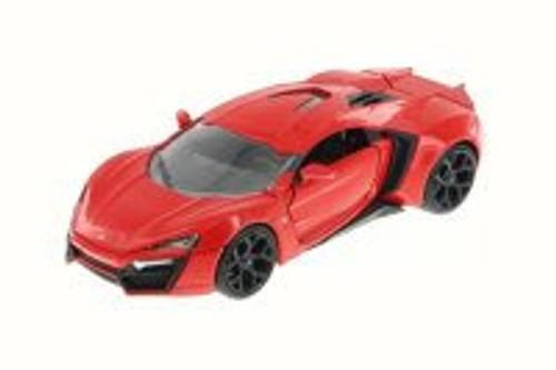 Lykan HyperSport, Glossy Red - JADA 97373 - 1/24 Scale Diecast Model Toy Car (Brand New, but NOT IN BOX)