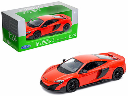McLaren 675LT Coupe, Red - Welly 24089W-RD - 1/24 Scale Diecast Model Toy Car