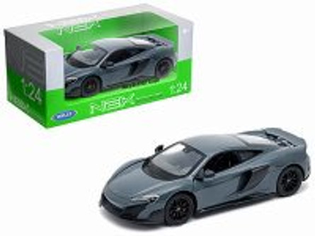 McLaren 675LT Coupe, Grey - Welly 24089W-GRY - 1/24 Scale Diecast Model Toy Car