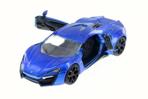 Lykan HyperSport, Blue - JADA 98077 - 1/24 Scale Diecast Model Toy Car (Brand New, but NOT IN BOX)
