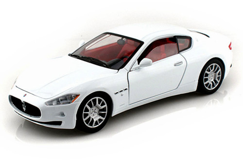 Maserati Gran Turismo, White - Motormax 73361 - 1/24 Scale Diecast Model Toy Car