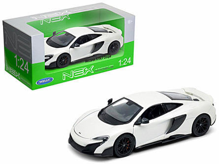 McLaren 675LT Coupe, White - Welly 24089W-WH - 1/24 Scale Diecast Model Toy Car