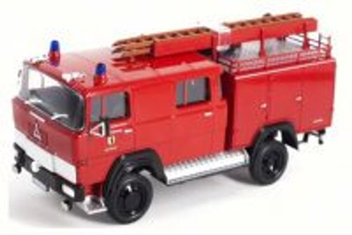 1965 Magirus-Deutz 100 D 7 FA LF8-TS Fire Engine, Red - Lucky 43017 - 1/43 Scale Diecast Model Toy Car