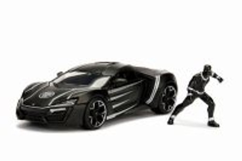 Lykan Hypersport with Black Panther figure, Avengers - Jada 99723 - 1/24 Scale Diecast Model Toy Car