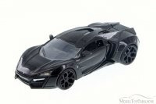Lykan HyperSport, Black Gloss - JADA 98077 - 1/24 Scale Diecast Model Toy Car (Brand New, but NOT IN BOX)