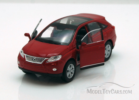 "Lexus RX 450H SUV w/ Sunroof, Red - Welly 43641 - 4.5"" Long Diecast Model Toy Car"