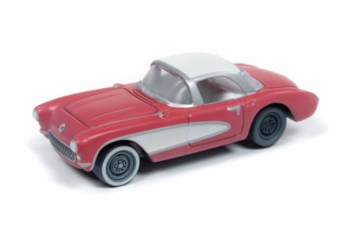 1957 Chevy Corvette, Venetian Red - Round 2 JLMC020/48B - 1/64 scale Diecast Model Toy Car