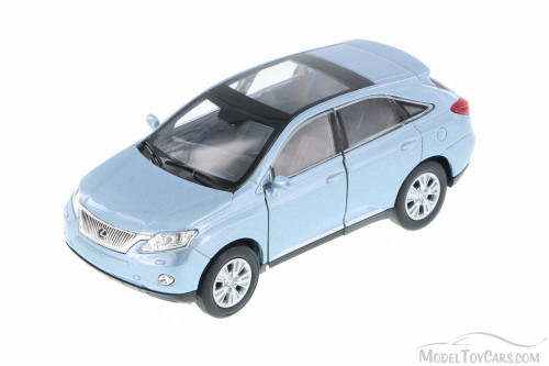"Lexus RX 450H SUV w/ Sunroof, Metallic Blue - Welly 43641 - 4.5"" Long Diecast Model Toy Car (Brand New, but NOT IN BOX)"