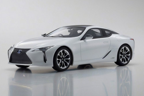 Lexus LC500 Hard Top, White - Kyosho KSR18024W - 1/18 Scale Resin Model Toy Car