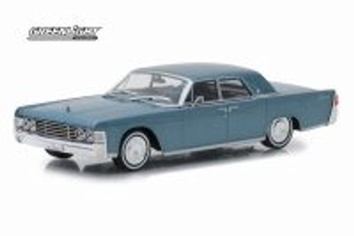 1965 Lincoln Continental Hard Top, Gray Metallic - Greenlight 86329 - 1/43 scale Diecast Model Toy Car