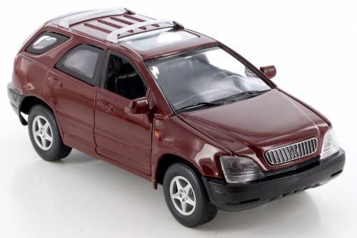 Lexus RX300, Red - Smart Toys 95091 - 1/24 Scale Diecast Model Toy Car