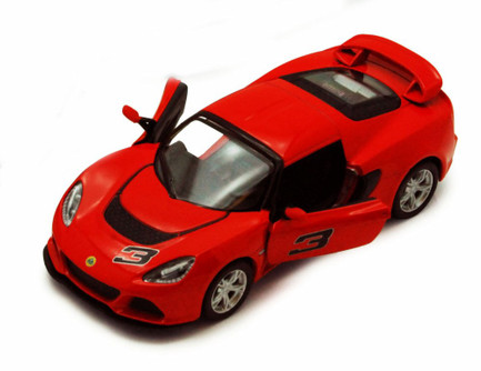 2012 Lotus Exige S #3, Red - Kinsmart 5361D - 1/32 scale Diecast Model Toy Car (Brand New, but NOT IN BOX)