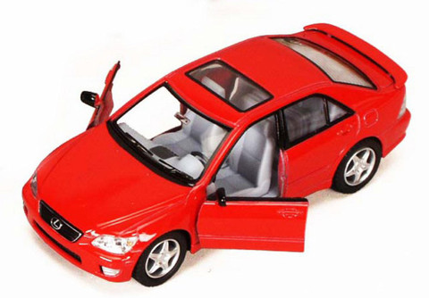Lexus IS300, Red - Kinsmart 5046D - 1/36 scale Diecast Model Toy Car