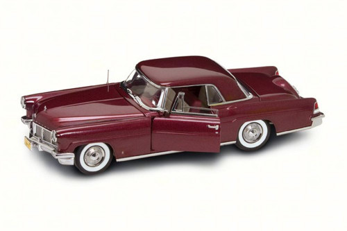 1956 Lincoln Continental Mark II, Burgundy - Road Signature 20078BG - 1/18 Scale Diecast Model Toy Car