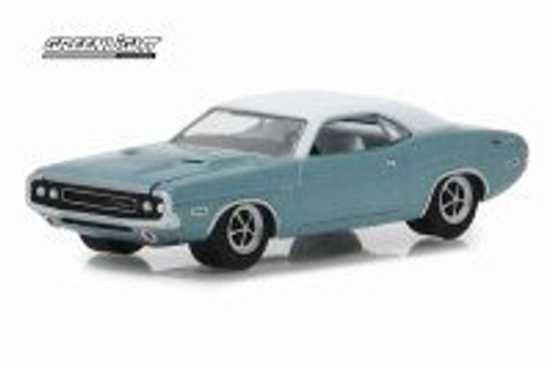 1970 Dodge Challenger Western Sport Special, Blue - Greenlight 29986/48 - 1/64 scale Diecast Model Toy Car