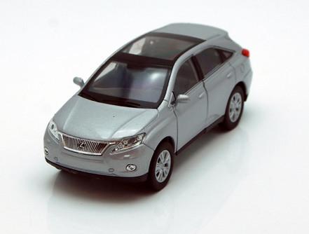 """Lexus RX 450H SUV w/ Sunroof, Silver - Welly 43641 - 4.5"""" Long Diecast Model Toy Car"""