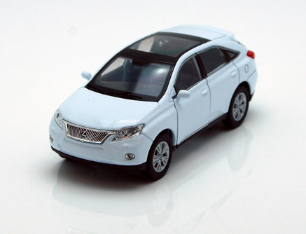 "Lexus RX 450H SUV w/ Sunroof, White - Welly 43641 - 4.5"" Long Diecast Model Toy Car"