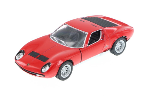 1971 Lamborghini Miura P400 SV Hard Top, Red - Kinsmart 5390D - 1/34 Scale Diecast Model Toy Car