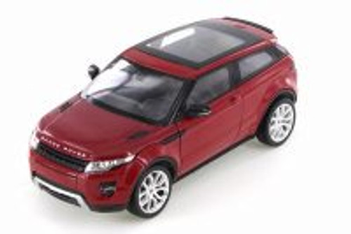 Land Rover Range Rover Evoque SUV w/ Sunroof, Dark Red - Welly 24021/4D - 1/24 Scale Diecast Model Toy Car