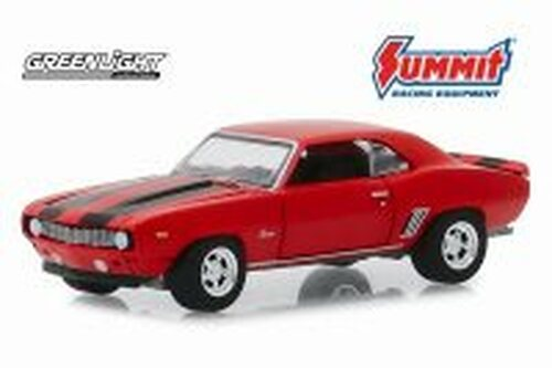 1969 Chevy Camaro, Red - Greenlight 30107/48 - 1/64 scale Diecast Model Toy Car