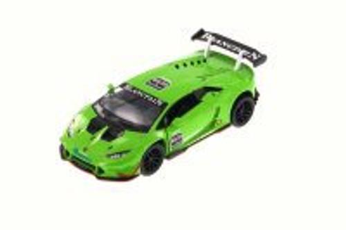 Lamborghini Huracan LP620-2 Super Trofeo, Green - Kinsmart 5389D - 1/36 Scale Diecast Model Toy Car
