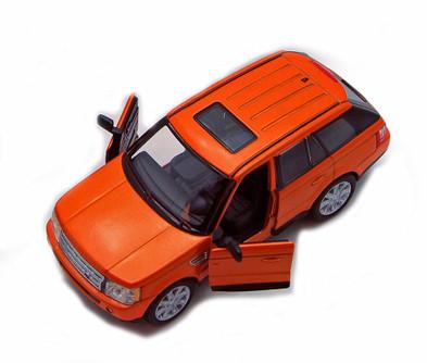 Range Rover Sport SUV, Orange - Kinsmart 5312D - 1/38 Scale Diecast Model Replica (Brand New, but NOT IN BOX)